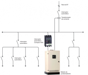 esquema batería condensadores