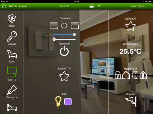 visualizacion knx ipad domotica